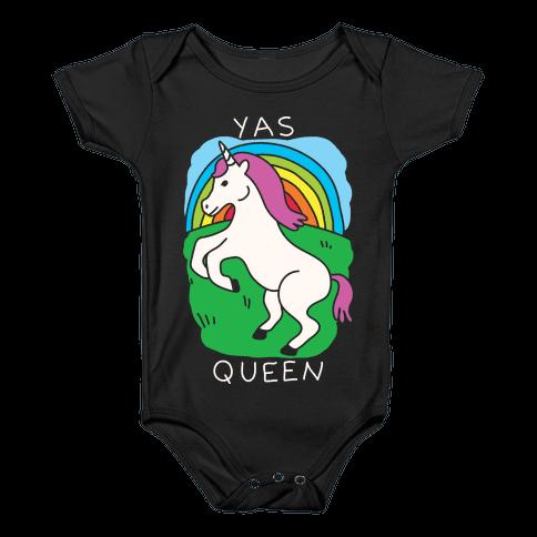 Yas Queen Unicorn Baby Onesy