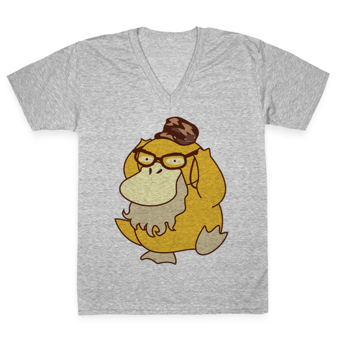 Si Duck (textless) V-Neck Tee Shirt