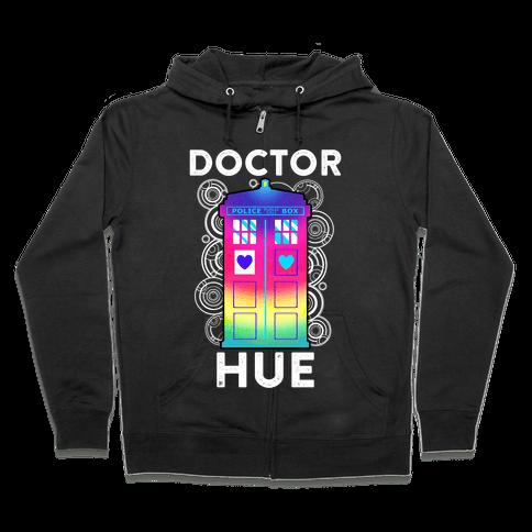 Doctor Hue (Doctor Who Parody) Zip Hoodie