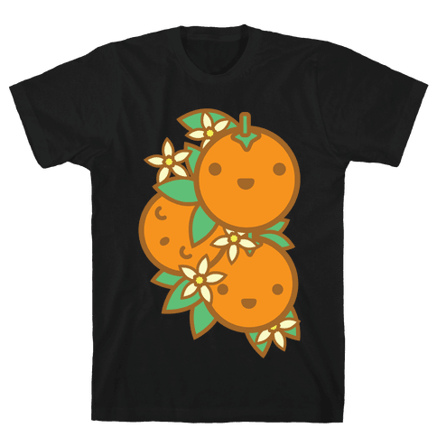 Kawaii Oranges Mens T-Shirt