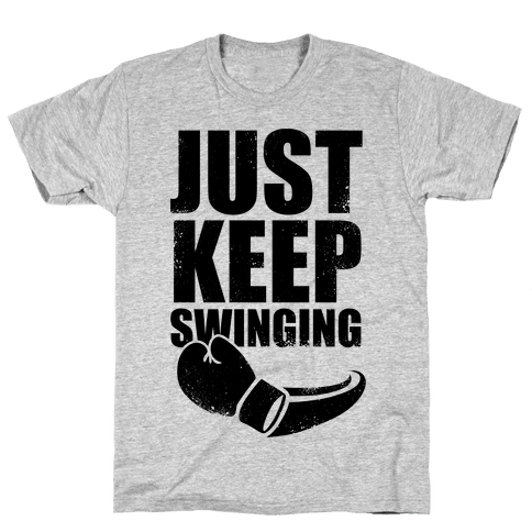 Just Keep Swinging (Vintage) Mens T-Shirt
