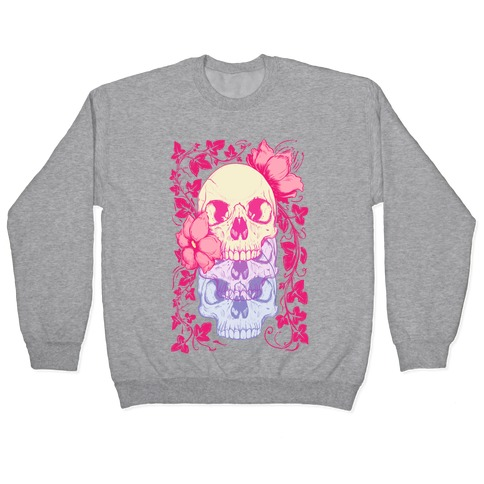 Skull of Vines and Flowers Pullover