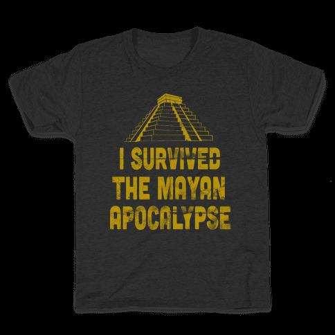 I Survived The Mayan Apocalypse (Tank) Kids T-Shirt