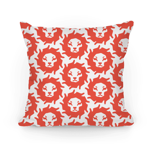 Lion Pattern (Red) Pillow
