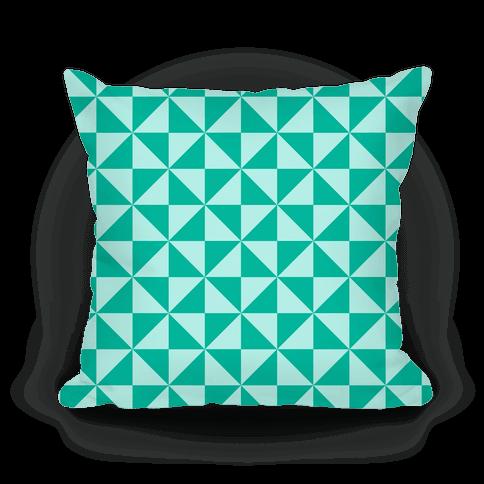 Large Throw Pillow Patterns : Teal Large Pinwheel Pattern - Throw Pillow - HUMAN