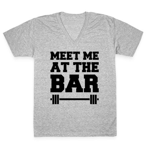 Meet Me At The Bar V-Neck Tee Shirt