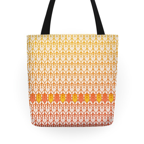 Fall Leaf Pattern Tote