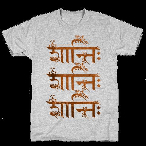 Shanti Shanti Shanti Mens T-Shirt