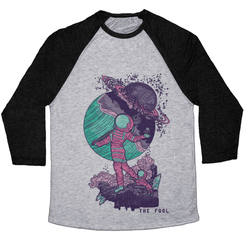 The Fool in Space Baseball Tee