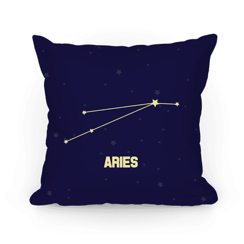 Aries Horoscope Sign Pillow