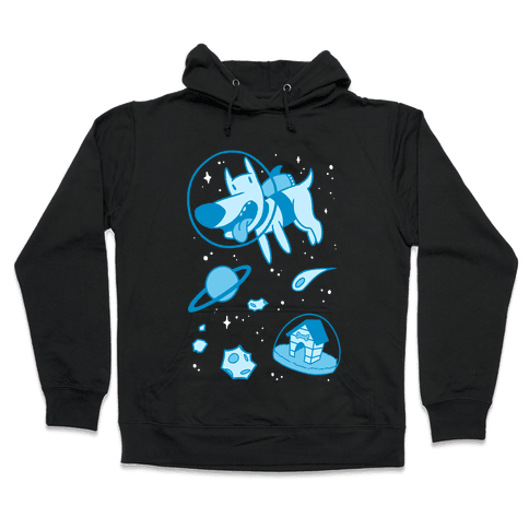 Blast Off Space Dog Hooded Sweatshirt