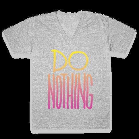 Do Nothing (Gradient) V-Neck Tee Shirt