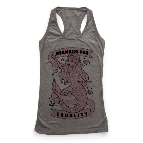 Mermaids For Equality Racerback Tank Top