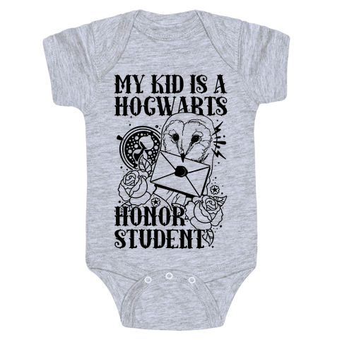 My Kid Is A Hogwarts Honor Student Baby Onesy