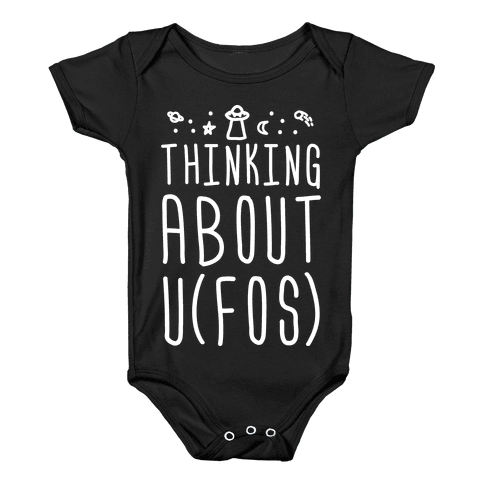 Thinking About UFOs Baby Onesy