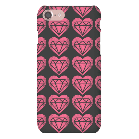Diamond Heart Pattern Phone Case