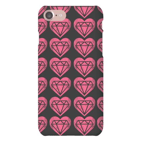 Diamond Heart Pattern Phone Case