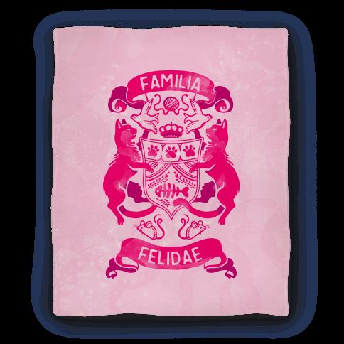 Cat Family Crest: Familia Felidae Blanket