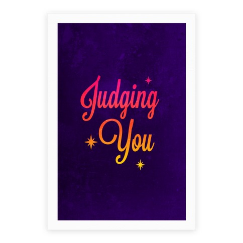 Judging You Poster