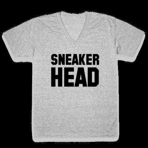 Sneaker Head V-Neck Tee Shirt