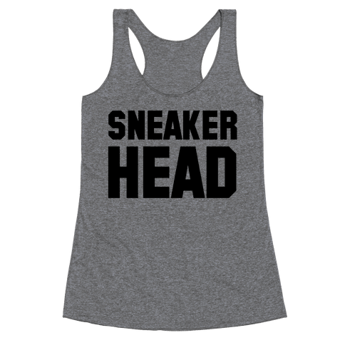 Sneaker Head Racerback Tank Top