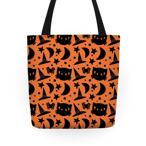Witchy Halloween Pattern Tote