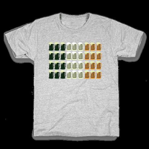 Irish Mug Flag Kids T-Shirt
