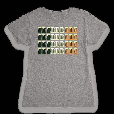 Irish Mug Flag Womens T-Shirt