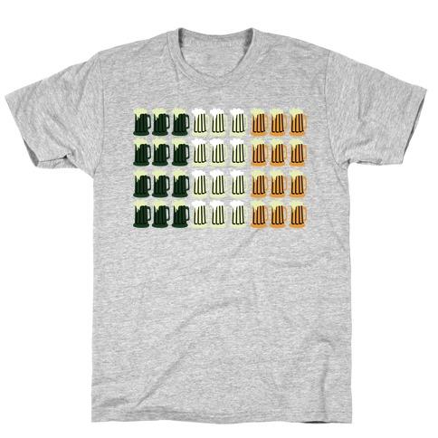 Irish Mug Flag Mens/Unisex T-Shirt