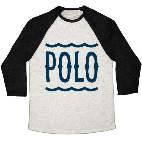 marco polo polo baseball tee lookhuman. Black Bedroom Furniture Sets. Home Design Ideas