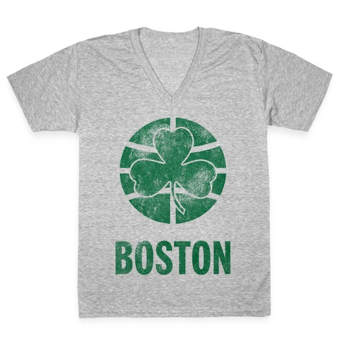 Boston (Vintage) V-Neck Tee Shirt