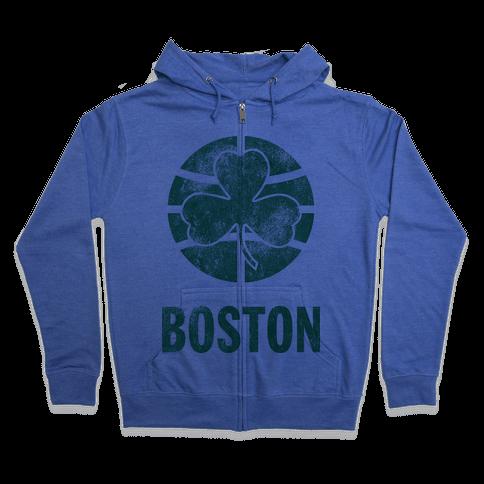 Boston (Vintage) Zip Hoodie