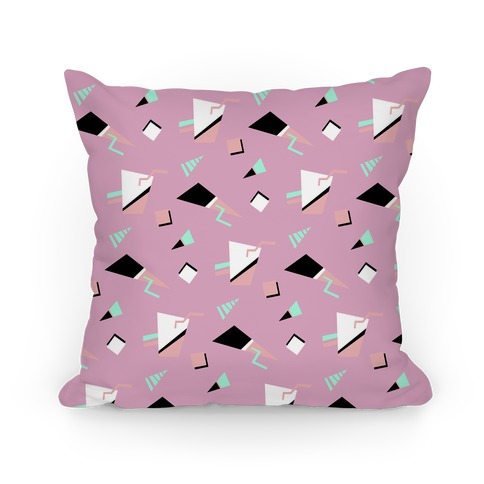 Mauve 80s/90s Pattern Pillow