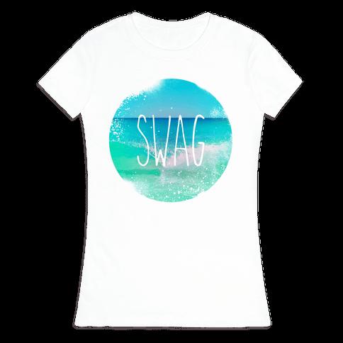 Beach (Swag) Womens T-Shirt