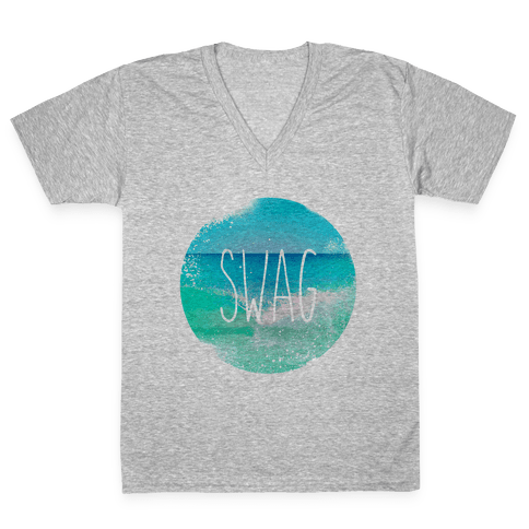 Beach (Swag) V-Neck Tee Shirt