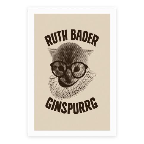 Ruth Bader Ginspurrg Poster