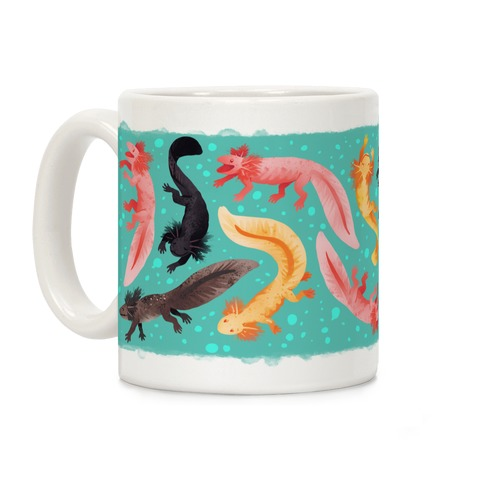 Cute Bright Axolotls Coffee Mug