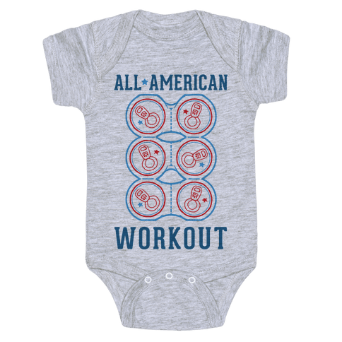 All American Workout Baby Onesy