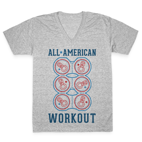 All American Workout V-Neck Tee Shirt