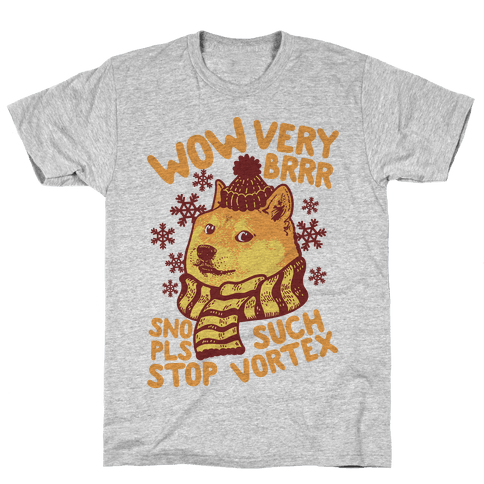 Winter Doge Mens T-Shirt