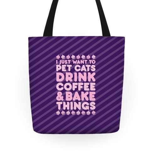 Pet Cats Drink Coffee Bake Things Tote