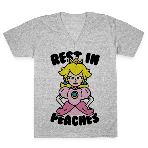 Rest In Peaches V-Neck Tee Shirt