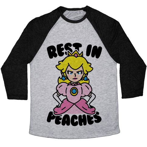 Rest In Peaches Baseball Tee