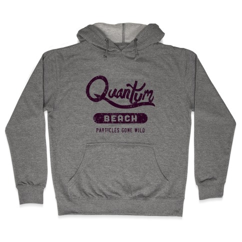 Quantum Beach - Particles Gone Wild Hooded Sweatshirt