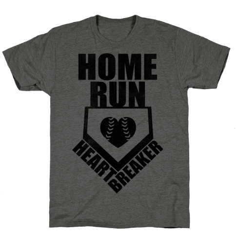 Home Run Heartbreaker (Baseball Tee) Mens T-Shirt