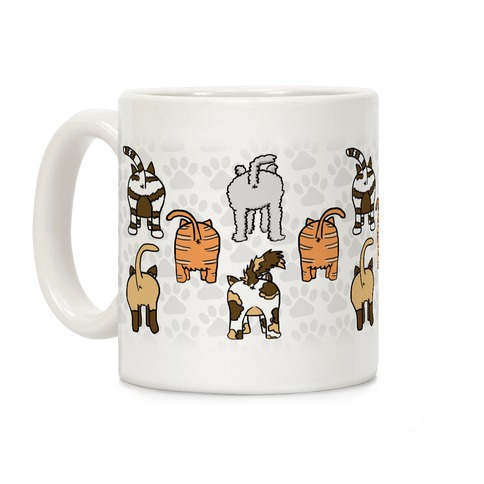 Cat Butt Pattern Coffee Mug
