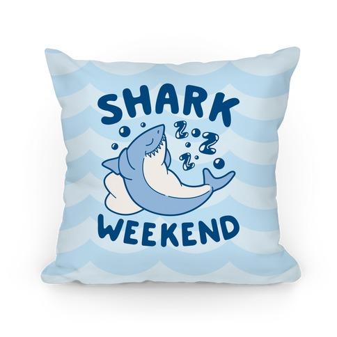 Shark Weekend Pillow