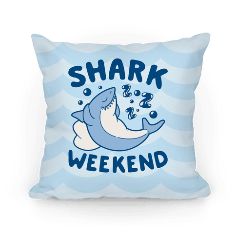 Shark Weekend Pillow