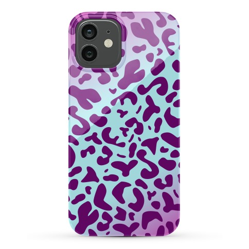 Purple Leopard Print Phone Case