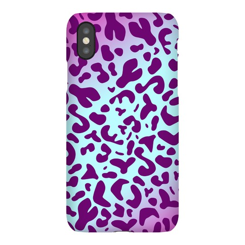 Purple Leopard Print Phone Case
